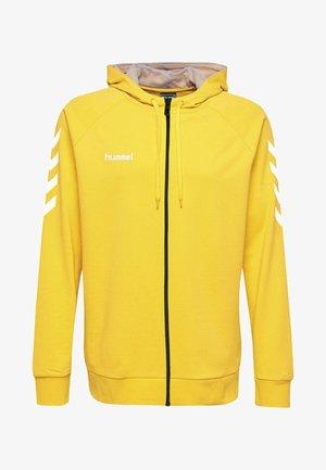 ZIP HOODIE - Sweatjakke /Træningstrøjer - yellow