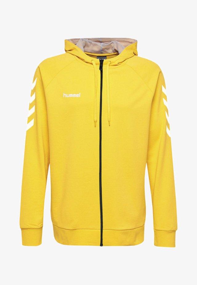 ZIP HOODIE - Zip-up hoodie - yellow