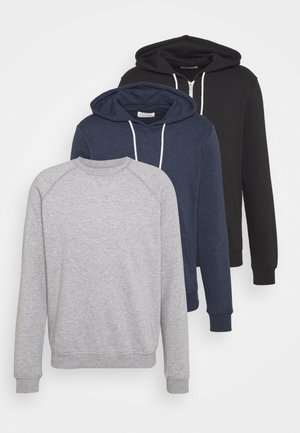 3 PACK - Sweatshirt - black/grey