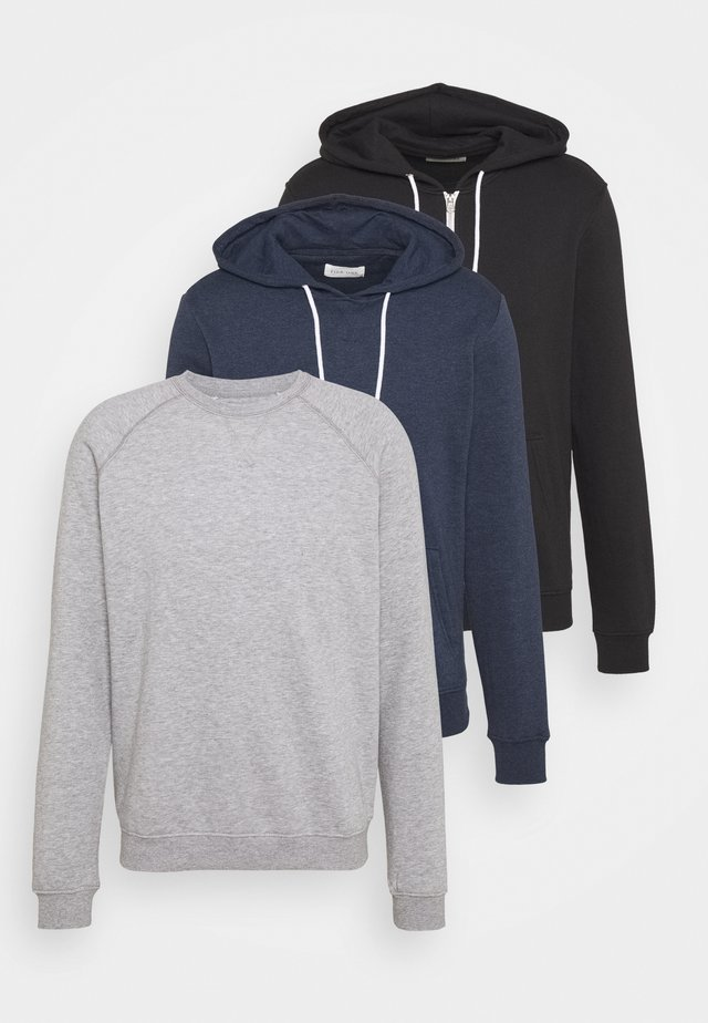 3 PACK - Sweater - black/grey