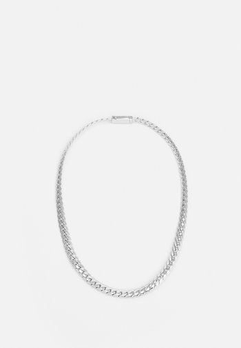 EXCLUSIVE CURB NECKLACE UNISEX - Necklace - silver-coloured