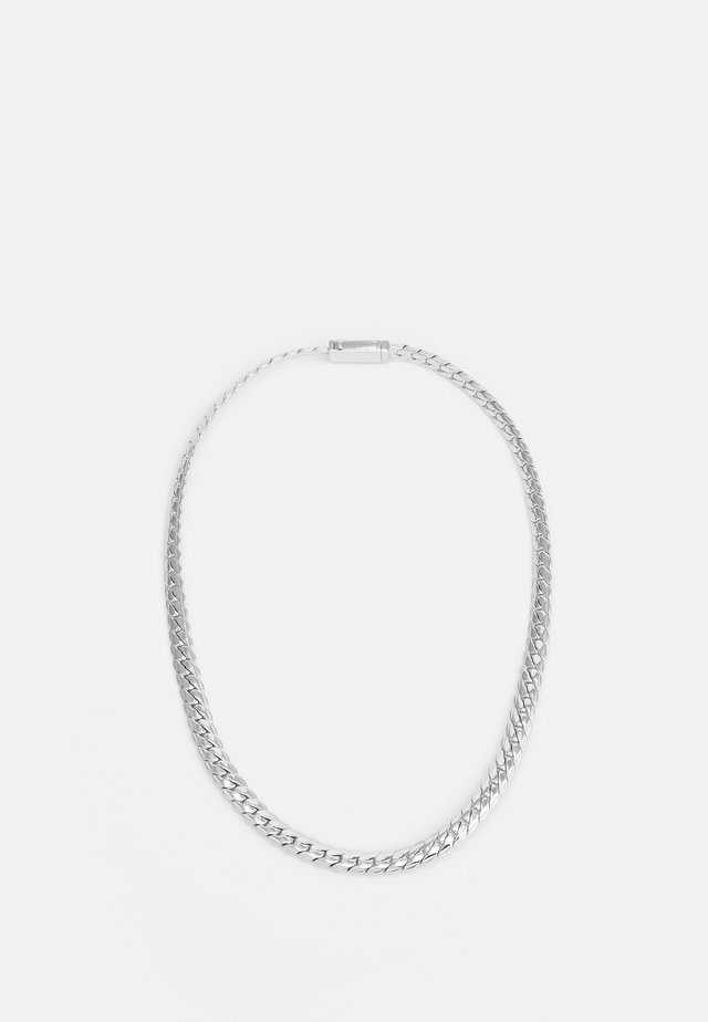 EXCLUSIVE CURB NECKLACE UNISEX - Collana - silver-coloured