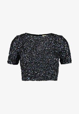 PRIYA LETTY TOP - Bluser - black iridescent