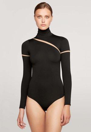 LEIA STRING - Long sleeved top - fairly light/black