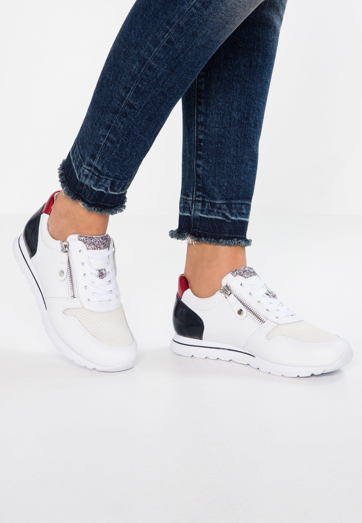 gabor wide fit sneaker low weiß nightblue rosso