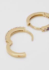 Orelia - FINE RAINBOW HUGGIE HOOPS - Earrings - multi - 3