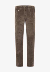 MODERN FIT - Trousers - dunkelbraun