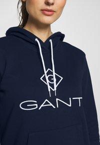 GANT - LOCK UP HOODIE DRESS - Robe d'été - evening blue - 5