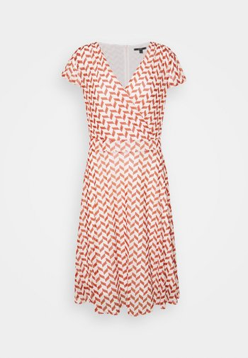 DRESS GRAPHIC PRINT - Day dress - terracotta