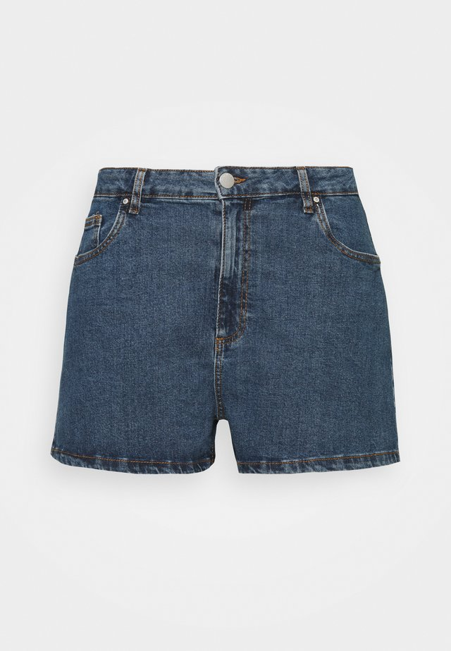 HIGH WAISTED - Short en jean - coogee blue