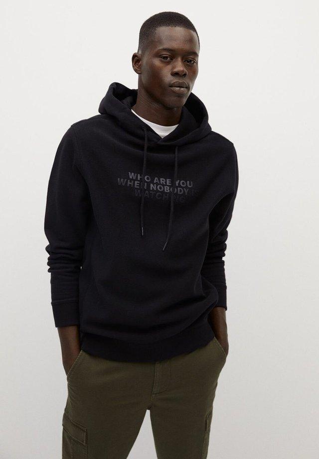 DEVOE - Hoodie - svart