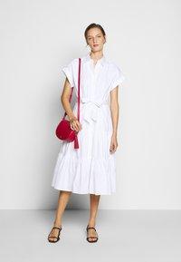 Lauren Ralph Lauren - BROADCLOTH DRESS - Košilové šaty - white - 1