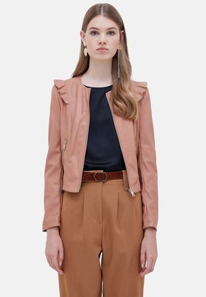 Faux leather jacket - rosa