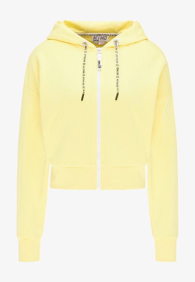 Zip-up hoodie - lemon