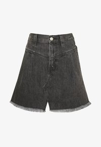 Free People - SIDECAR MINI - Denim skirt - black - 3