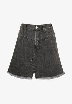 SIDECAR MINI - Denim skirt - black
