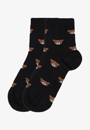 Socks - schwarz black teddy bear print
