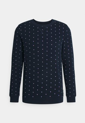 CREWNECK WITH ALLOVERPRINT - Mikina - navy colored squares print