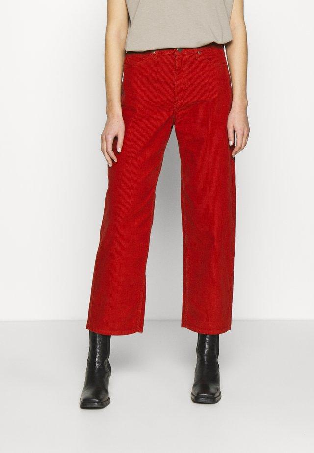 WIDE LEG - Pantaloni - red ocre