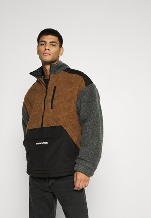 HALF ZIP PANELLED - Tunn jacka - tan