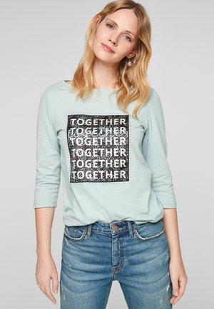 T-shirt imprimé - aqua blue statement print