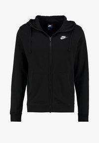 Nike Sportswear - CLUB FULL ZIP HOODIE FRENCH TERRY - Sweatjakke /Træningstrøjer - black/white - 5