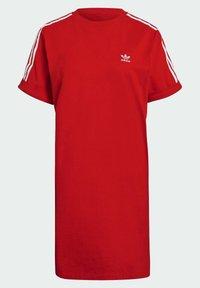 adidas Originals - TEE DRESS - Jersey dress - red - 7