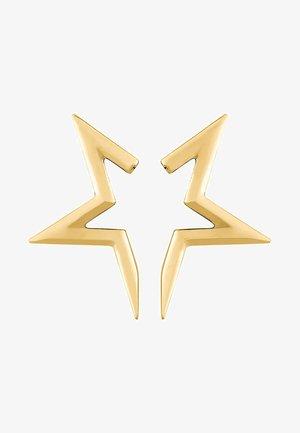 HALF-STAR - Earrings - gold-coloured