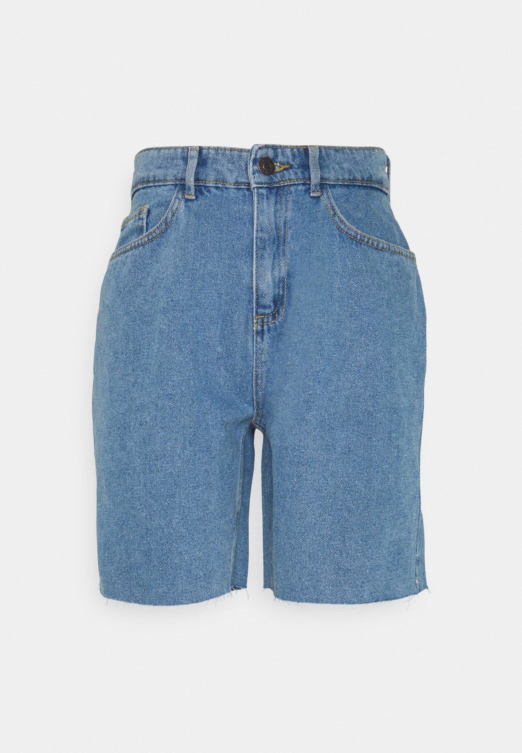 Women NMDIANA - Denim shorts - light blue