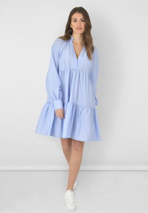 FRILL COLLAR TIERED - Day dress - blue