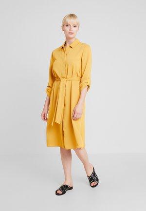 TEXTURED STYLE DRESS - Shirt dress - yellows