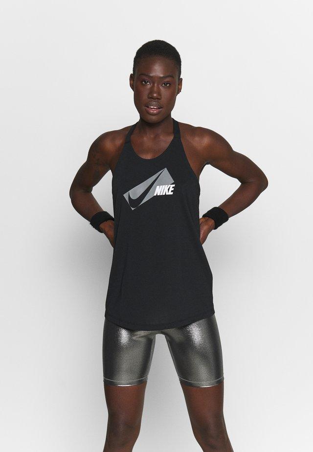 DRY ELASTIKA - T-shirt sportiva - black/particle grey