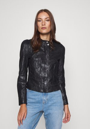 JAMYLA - Leather jacket - black