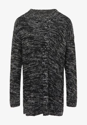 Jersey de punto - schwarz wollweiss