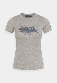 Polo Ralph Lauren - TEE SHORT SLEEVE - T-shirt z nadrukiem - dark vintage heather - 0