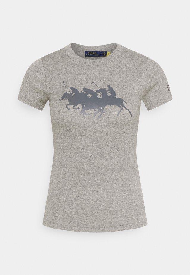TEE SHORT SLEEVE - Print T-shirt - dark vintage heather