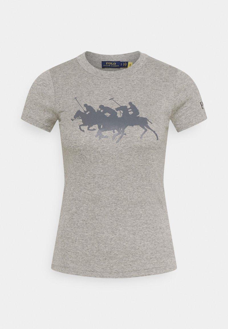 Polo Ralph Lauren - TEE SHORT SLEEVE - T-shirt z nadrukiem - dark vintage heather