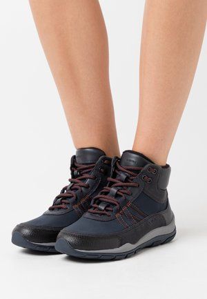 KANDER - Šněrovací kotníkové boty - navy