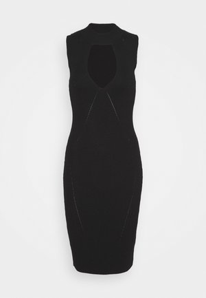 CAROLE - Shift dress - jet black