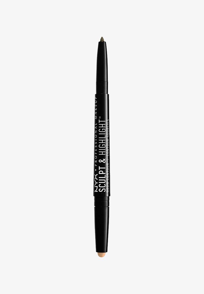 Nyx Professional Makeup - SCULPT & HIGHLIGHT BROW CONTOUR - Eyebrow pencil - 7 ash brown/medium beige