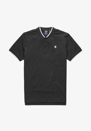 SPORT COLLAR SLIM - Print T-shirt - dk black