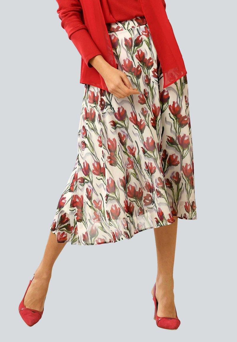 Alba Moda - A-line skirt - weiß,rot