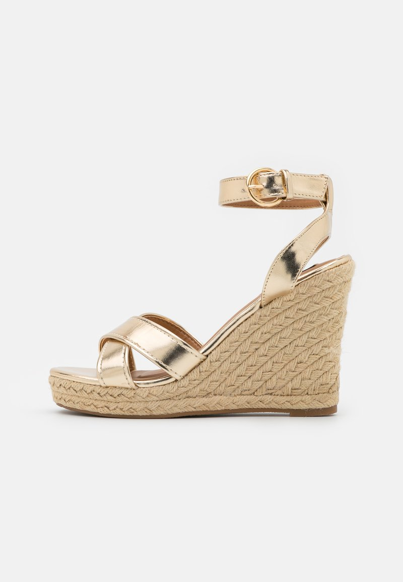 ONLY SHOES - ONLAMELIA LIFE STITCH  - Platform sandals - gold