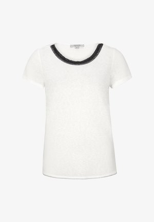 MIT EMBROIDERY - Print T-shirt - ivory