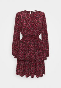 ONLY - ONLTESSA SHORT DRESS  - Day dress - black/paris ditsy /mars red - 0