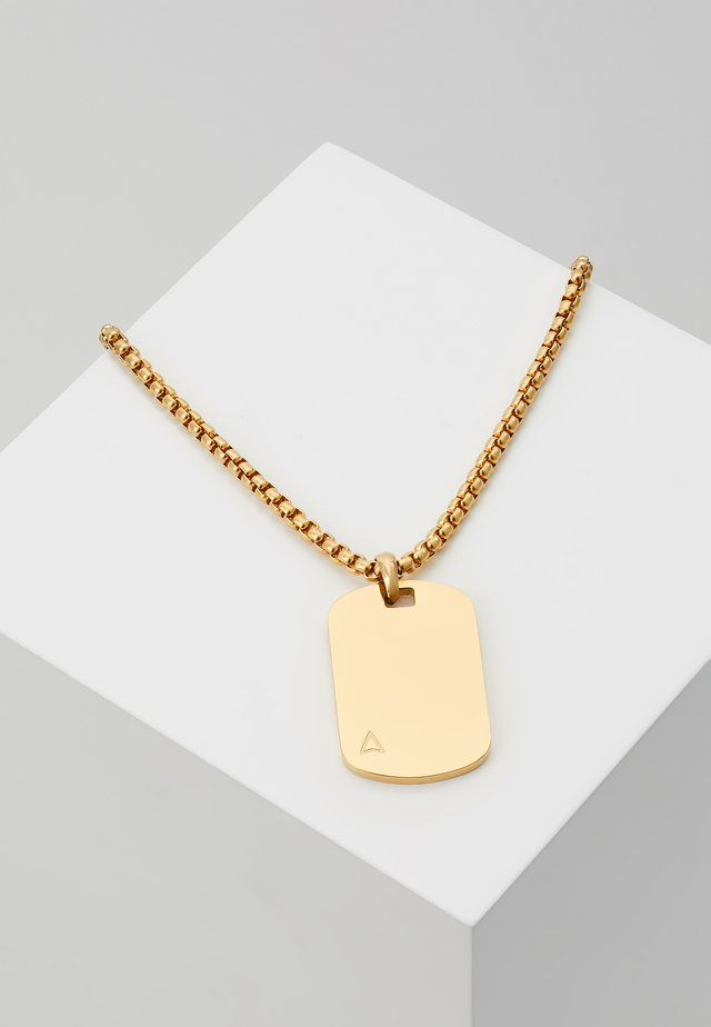 ID TAG NECKLACE - Halsband - gold-coloured