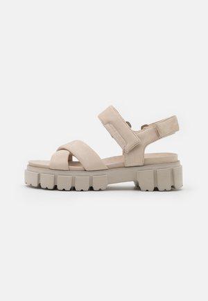 TRAIL - Platform sandals - beige