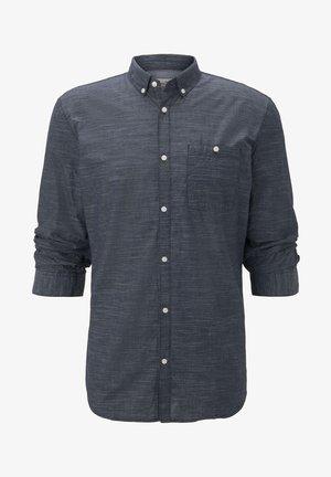 MIT 3/4-ARM - Shirt - blue slub stripe