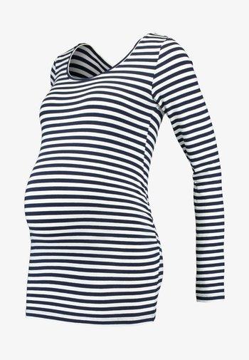 Bluzka z długim rękawem - off-white/dark blue