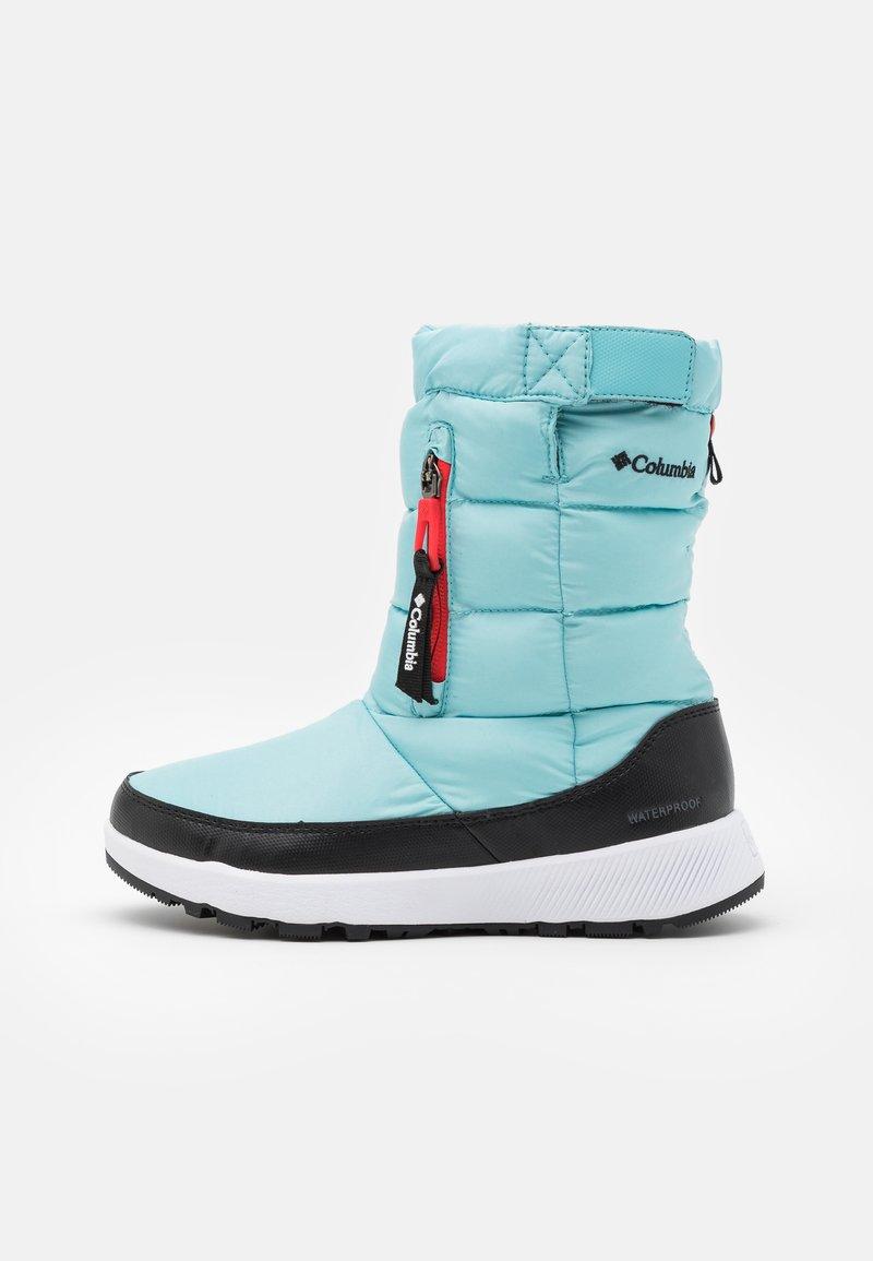 Columbia - PANINAROOMNI HEATPULL ON - Zimní obuv - aquatint/poppy red
